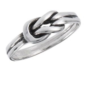 Sterling Silver Knot Ring Size 8 New With Tags